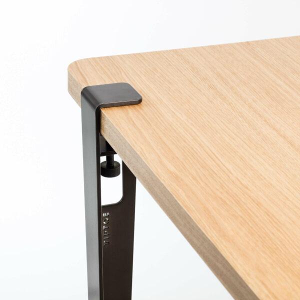Pied pour table et bureau modulable acier patine TIPTOE