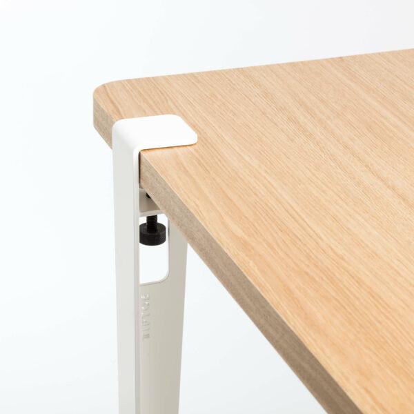 Pied pour table et bureau modulable acier blanc TIPTOE