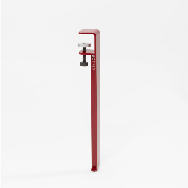 Pied de table basse rouge tomette - 43 cm