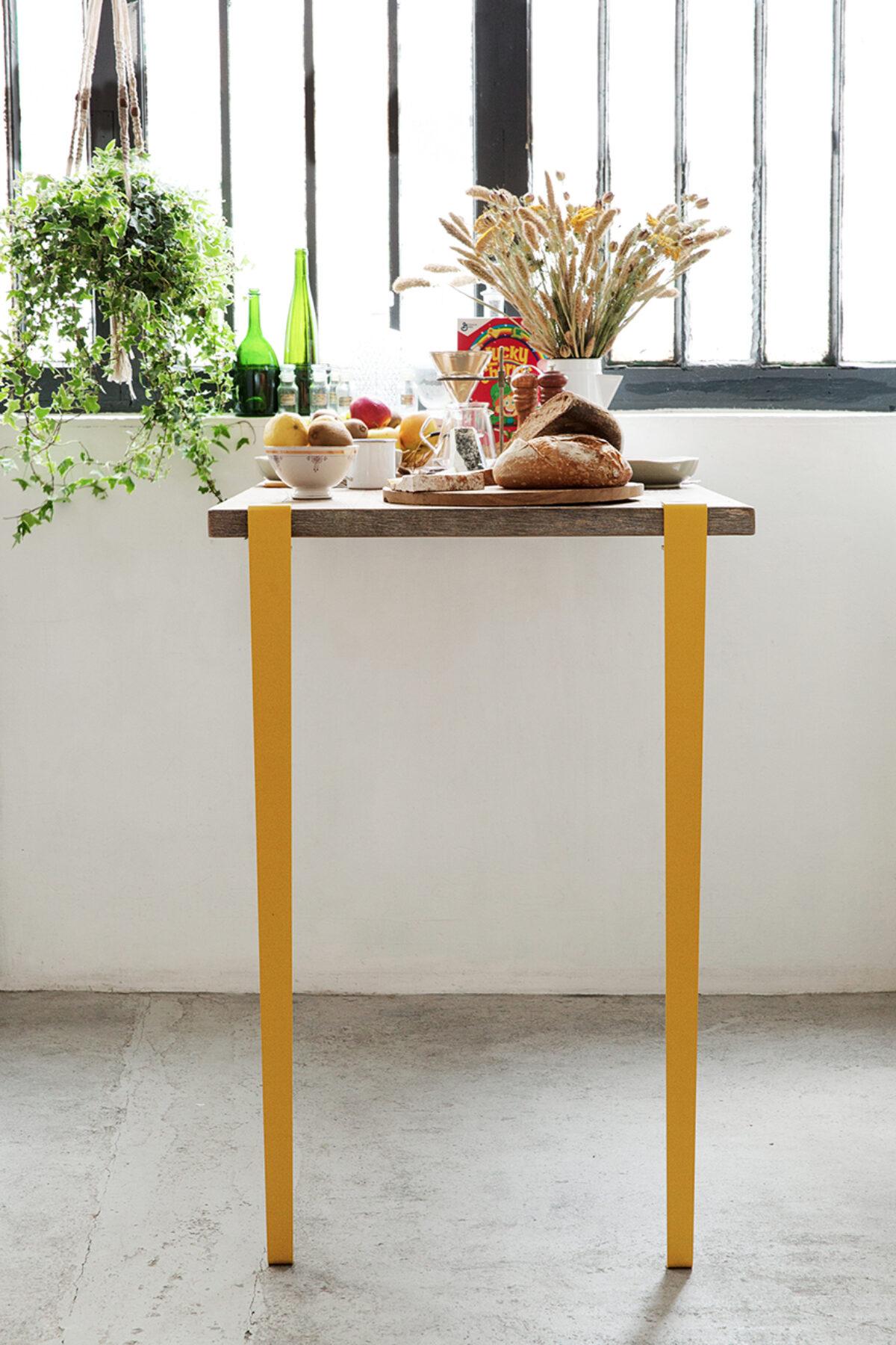 pied pour table bar et mange debout tiptoe serre joint couleurs. Black Bedroom Furniture Sets. Home Design Ideas