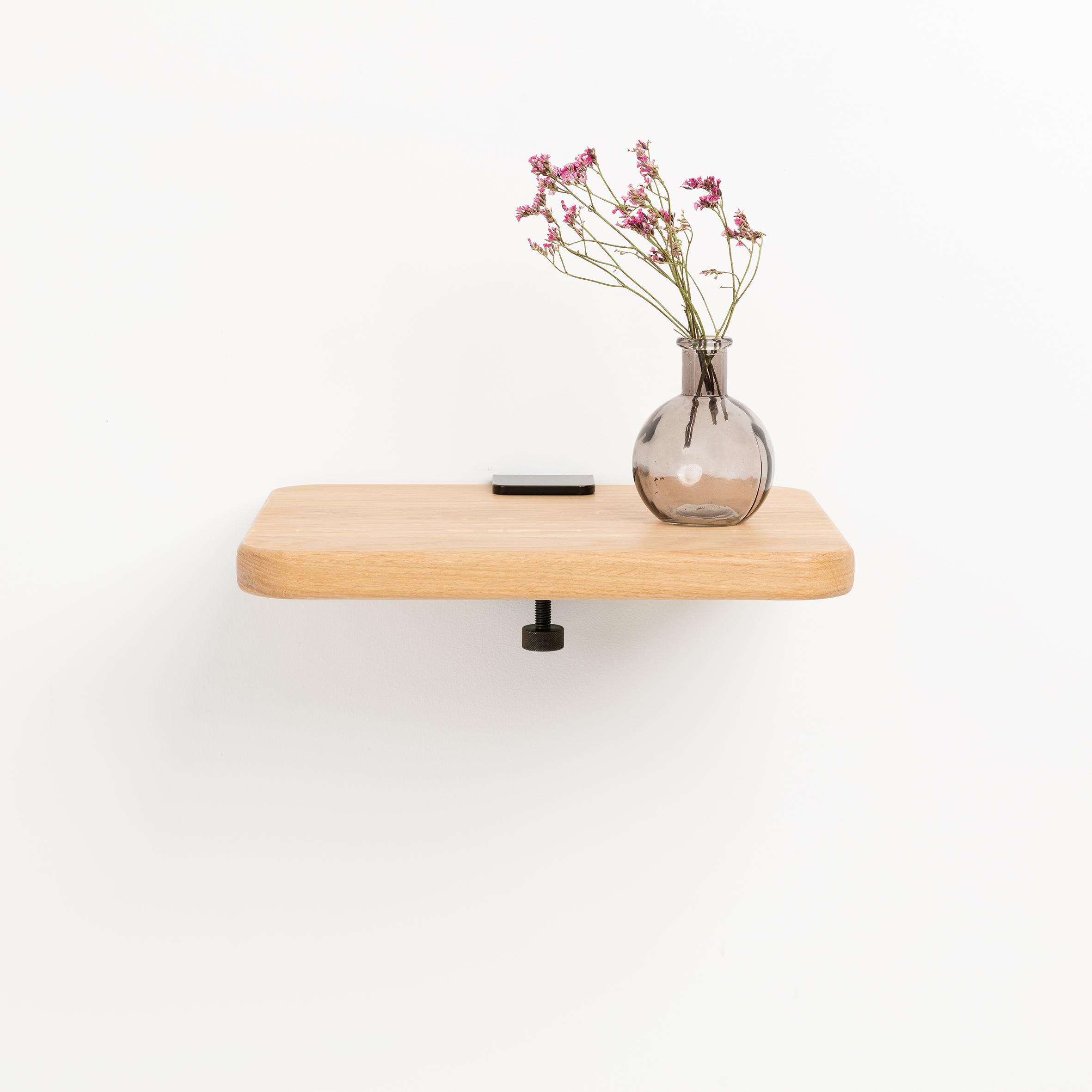 Table De Chevet Tiptoe Accroche Murale Et Chene Massif 32x27cm