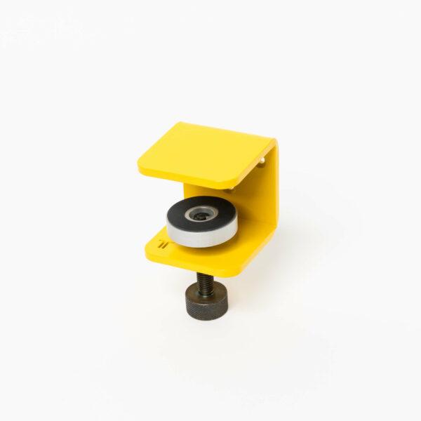 Accroche murale TIPTOE pour etagere et bureau mural jaune
