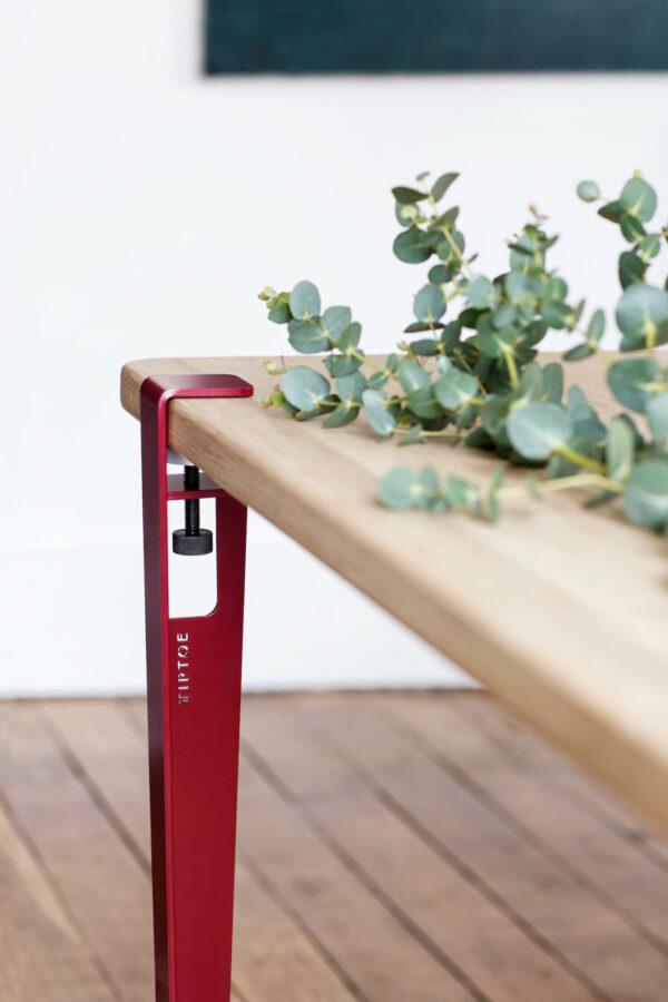 Pied de table modulable TIPTOE rouge poupre