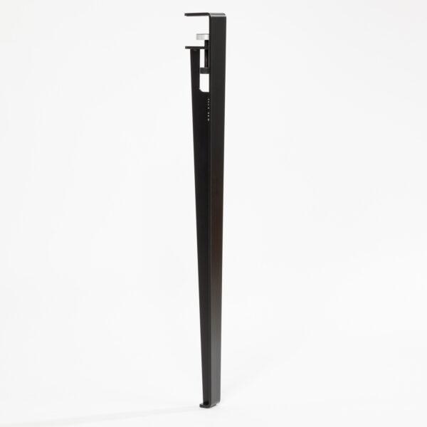 Pied pour table et bureau modulable acier noir TIPTOE