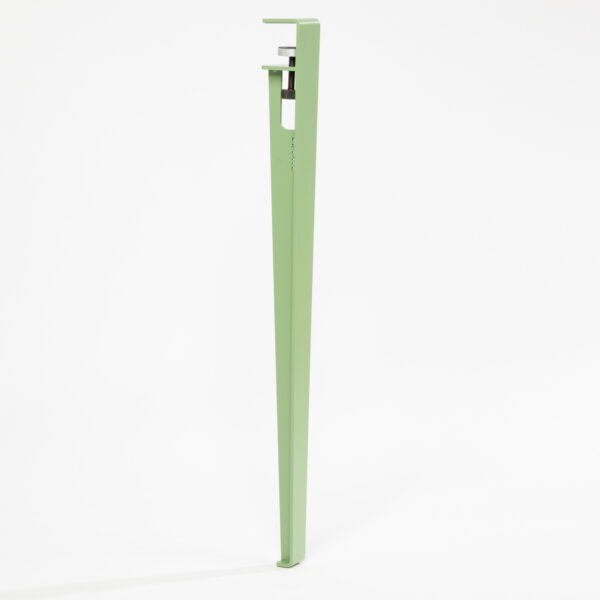 Pied pour table et bureau modulable acier vert TIPTOE