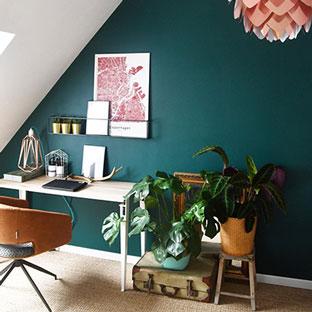 Bureau design avec le pied de table TIPTOE