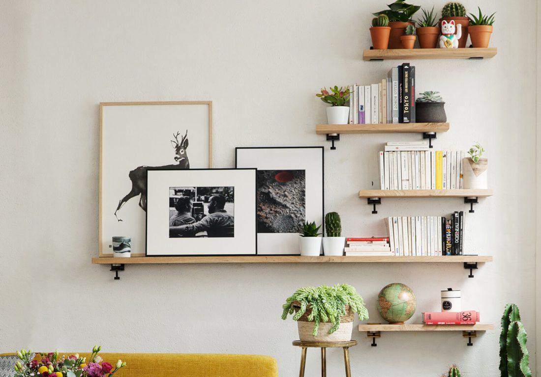 18 idées d'étagères à créer avec les accroches murales BRACKET de TIPTOE