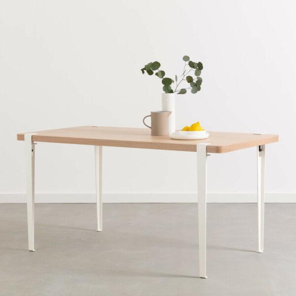 La table à manger BALTHAZAR Blanc Nuage