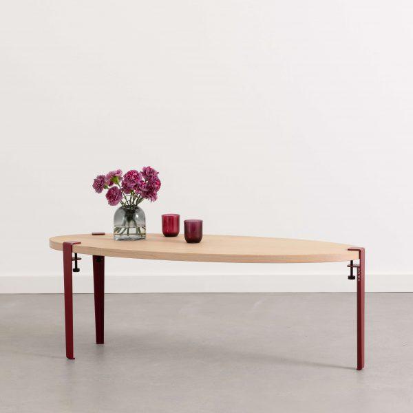 table basse surf pieds de table tiptoe et plateau bois. Black Bedroom Furniture Sets. Home Design Ideas
