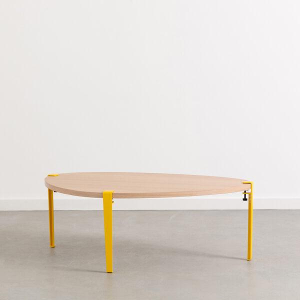 PEBBLE coffee table - eco-certified wood