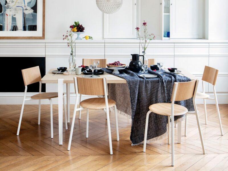 oak white table