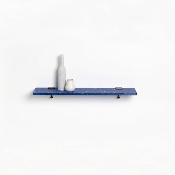 Etagère murale plastique recyclé Bleu Pacifico – 90x20cm