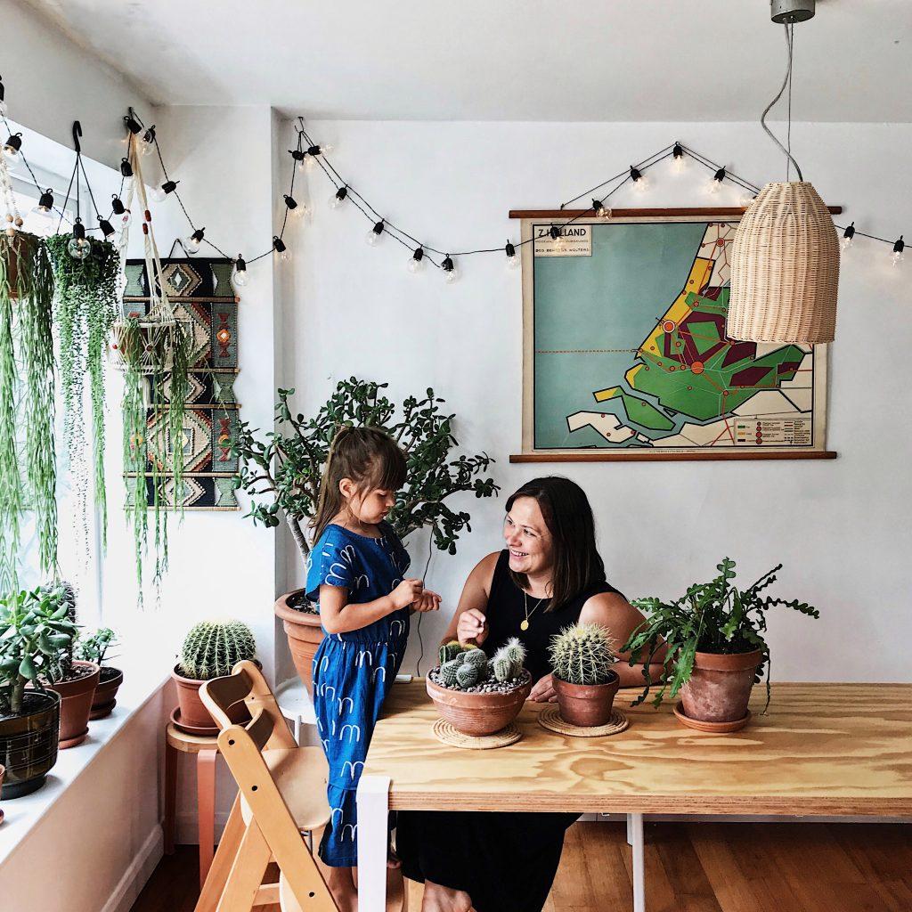Ambiance végétale chez Kate et sa famille