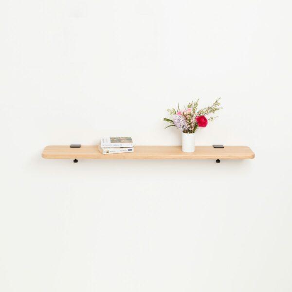 Solid oak shelf - 120x20cm