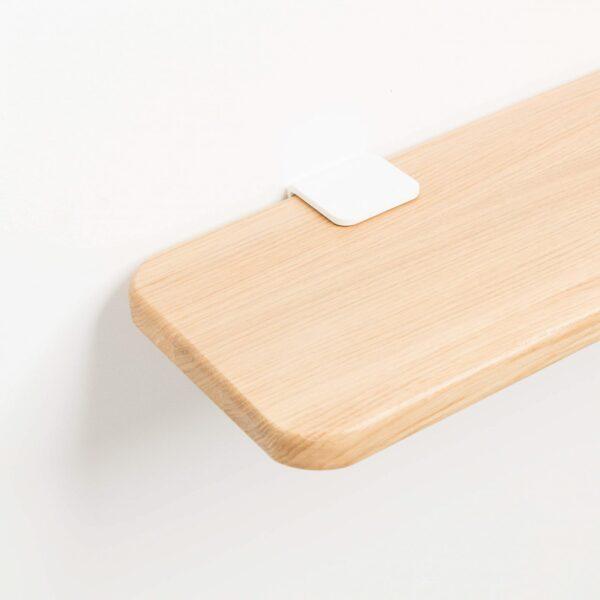 Solid oak bedside table