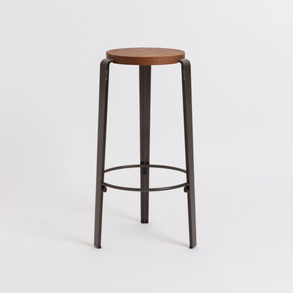 Tabouret de bar BIG LOU - bois éco-certifié