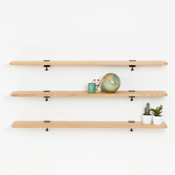 Solid oak bookshelf - 150x20cm