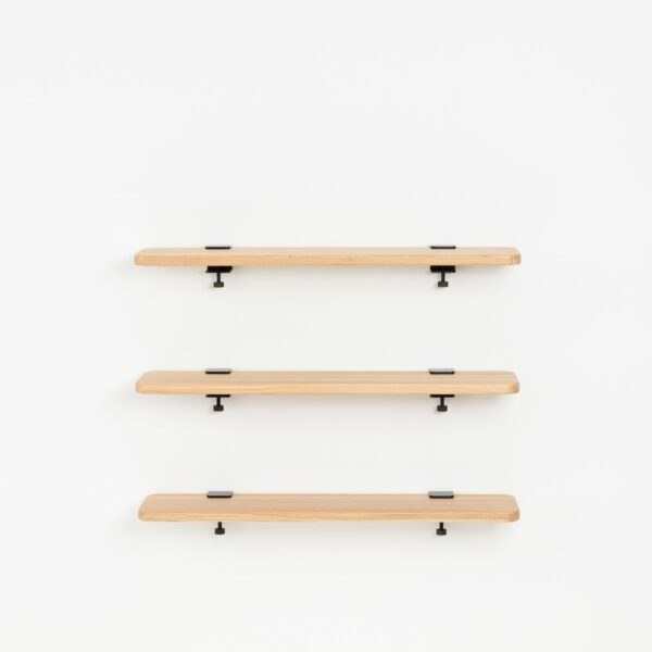 Trio étagères murales chêne massif – 90x20cm