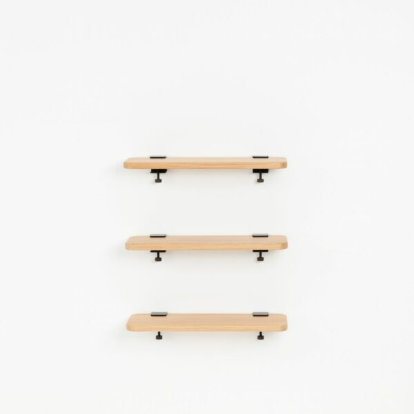 Trio étagères murales chêne massif – 60x20cm