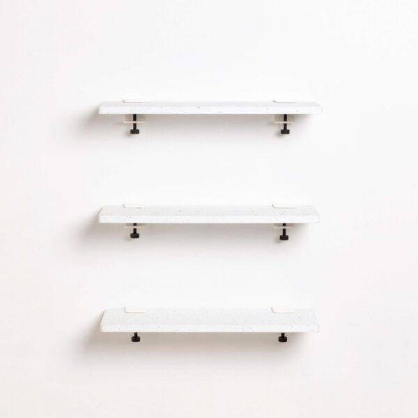 Bookshelf White Venezia in recycled plastic - 60x20cm