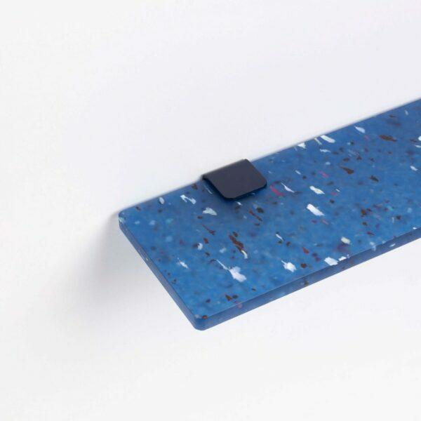 Etagère murale plastique recyclé Bleu Pacifico - 60x20cm