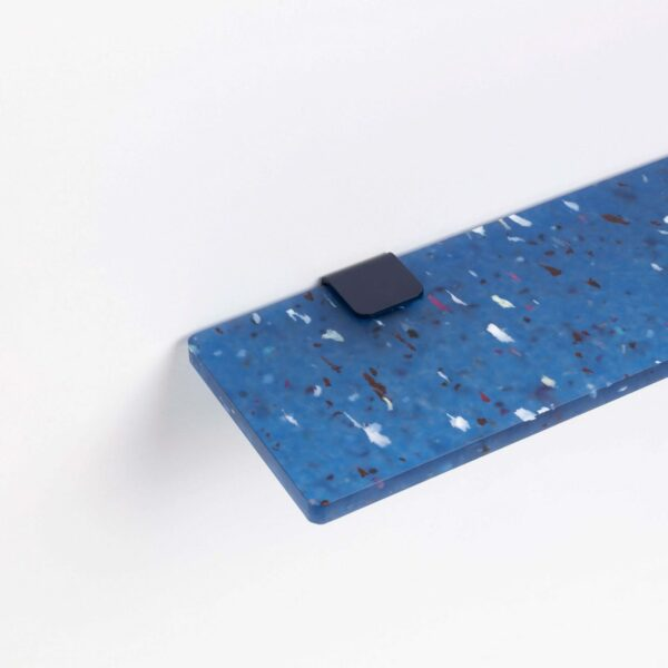 Blue Pacifico shelf in recycled plastic - 60x20cm