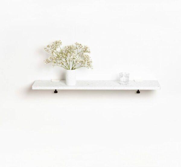 Etagère murale plastique recyclé Blanc Venezia - 90x20cm