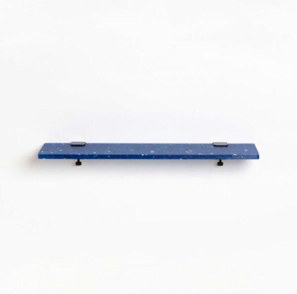 Etagère murale plastique recyclé Bleu Pacifico - 90x20cm
