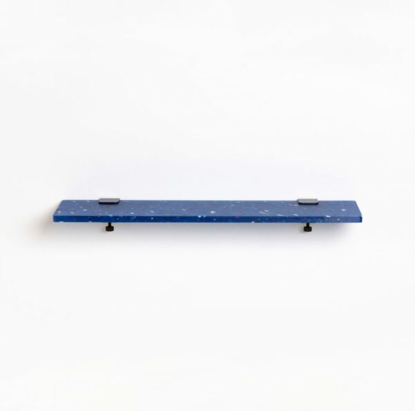 Blue Pacifico shelf in recycled plastic - 90x20cm