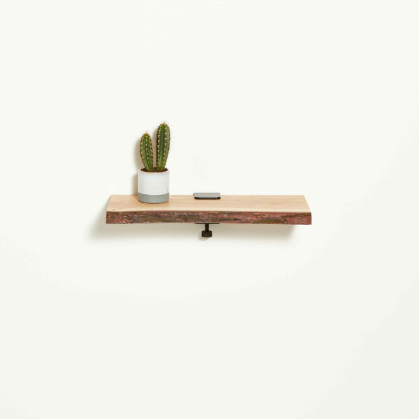 Live edge wood shelf - 45x20cm