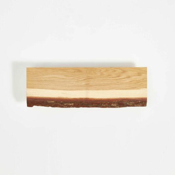 plateau en bois brut écorce