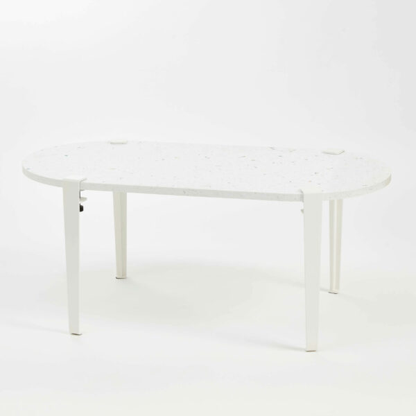 Table basse oblongue plastique recyclé VENEZIA