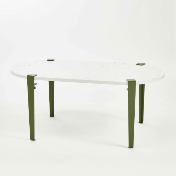 Table basse oblongue plastique recyclé VENEZIA