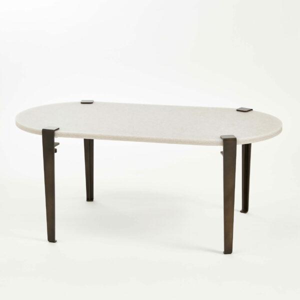 Table basse oblongue plastique recyclé ROCA