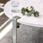 Pied pour table basse en acier coloré TIPTOE