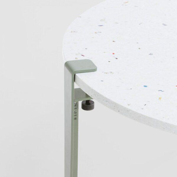 Table basse en plastique recyclé Venezia - Pied de table basse gris