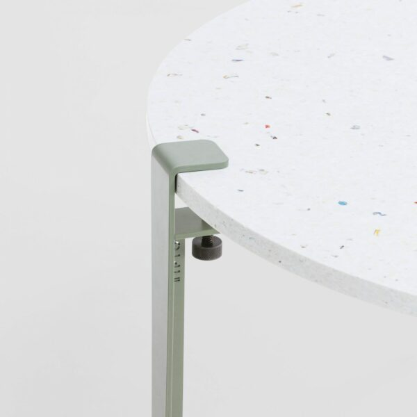 Table basse en plastique recyclé Venezia - Pied de table basse gris