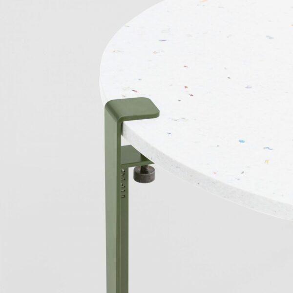 Table basse en plastique recyclé Venezia - Pied de table basse vert
