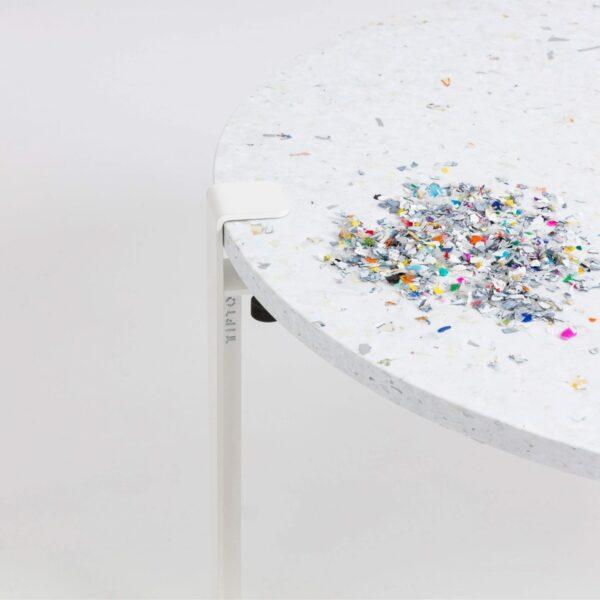 Table basse en plastique recyclé Venezia - Pied de table basse blanc