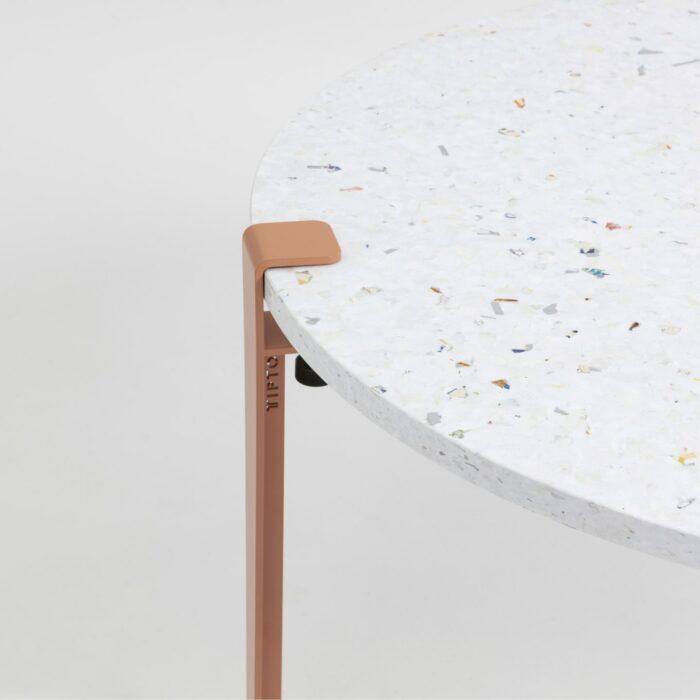 Table basse en plastique recyclé Venezia - Pied de table basse rose