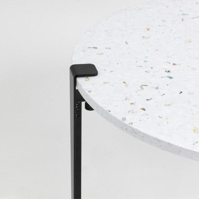 Table basse en plastique recyclé Venezia - Pied de table basse noir