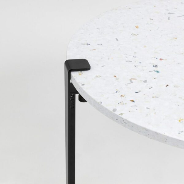 Table basse en plastique recyclé Venezia - Pied de table basse acier patiné