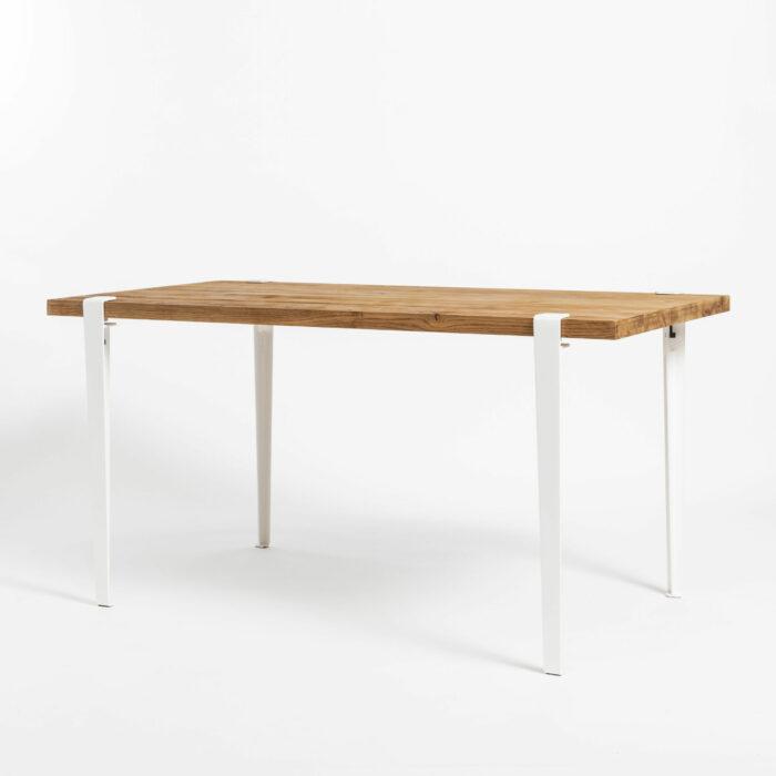 Table à manger TIPTOE en bois ancien recyclé avec pieds de table