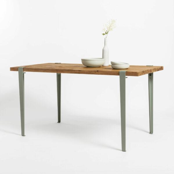 Table à manger en bois ancien recyclé TIPTOE pour salle à manger chaleureuse