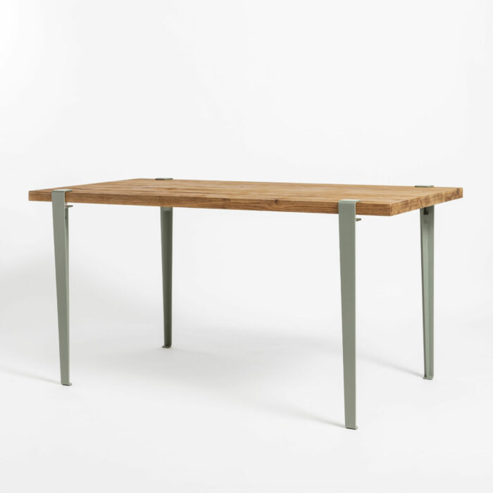 Table à manger Balthazar en bois ancien avec pieds de table TIPTOE