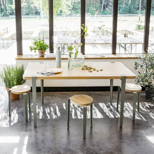 Table à manger en bois chêne TIPTOE