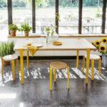 Table à manger en chêne avec pieds en métal TIPTOE