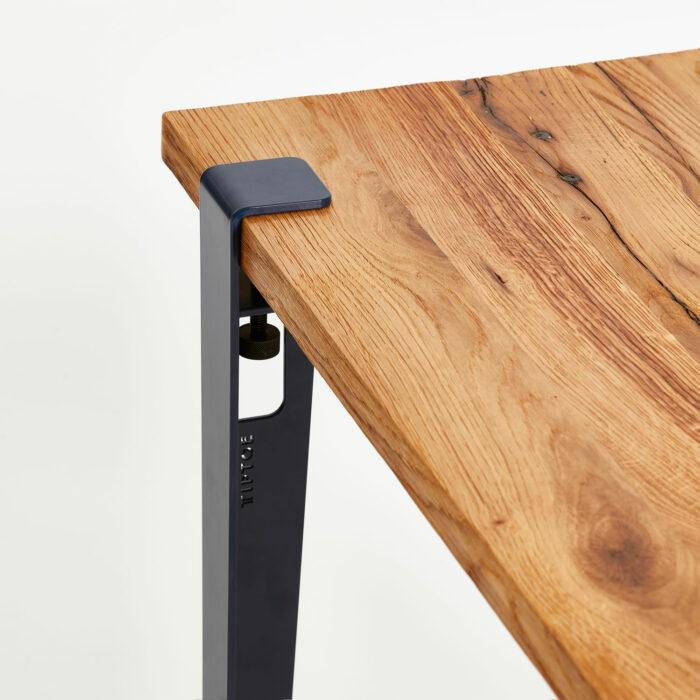 TIPTOE reclaimed wood desk top with table leg