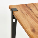 TIPTOE reclaimed wood table with steel table leg