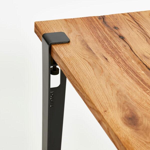 Table en bois ancien TIPTOE avec pied de table acier